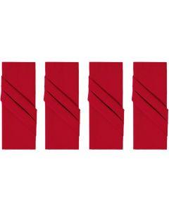 Kit de Guardanapos 4 peças Liso Home - Vermelho