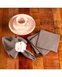 Kit de Guardanapos 4 peças Liso Home - Noz Moscada