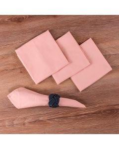Kit de Guardanapos 4 peças Liso Home - Rosa Chá