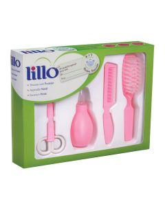 Kit de Higiene 4 peças para Bebê Recém Nascido Lillo - ROSA
