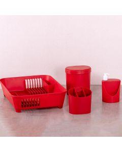 Kit de Organizadores de Pia 4 Peças Brinox - Vermelho