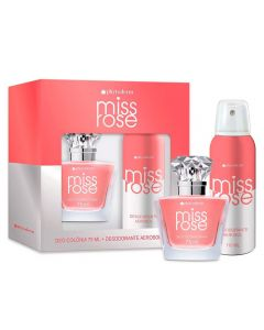 Kit Deo Colônia 75ml e Desodorante 110ml Miss Rose  - Feminino