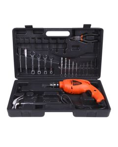 Kit Furadeira de Impacto Black and Decker HD455K1