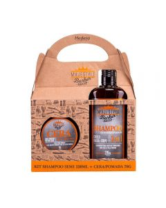 Kit Homem Shampoo 3em1+Cera Estilizadora Hedera - Majestyle