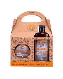 Kit Homen Shampoo 3Em1+Pomada Modeladora Hedera - Majestyle