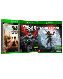 Kit Jogos Gears of War - Rise of the Tomb Raider - State of Decay 2 - Xbox One
