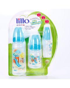 Kit Mamadeira 3 peças Evolução Divertida 0 á 6 meses Lillo - Azul