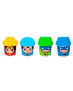 Kit Massinha Super Amigos DC 4 Potes Sunny - 2160