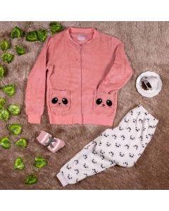 Kit Pijama Adulto com Meia Panda Holla