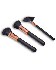 Kit Pincéis Blush e Base Boby Blues - Preto