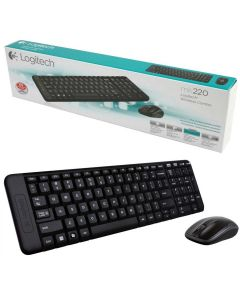 Kit Teclado e Mouse Wireless Logitech MK220 - DIVERSOS