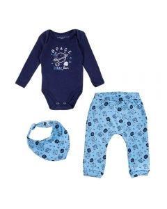 Kit Três Peças de Bebê Estampado Yoyo Baby