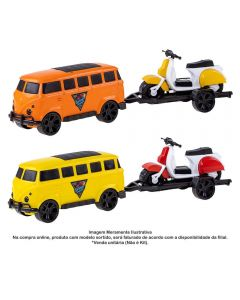 Kombi Com Lambreta Garage Summer Orange Toys - 0449
