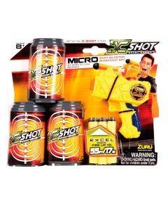 Lança Dardos X-Shot Excell 3 Latas Alvo Candide - Amarelo