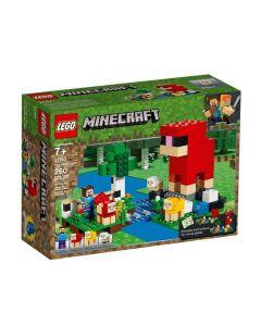Lego Minecraft a Fazenda de Lã 206 Peças - 21153 - Colorido
