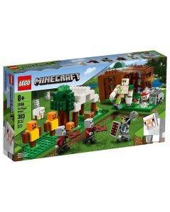 Lego Minecraft The Pillager Outpost 303 Peças - 21159