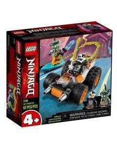 Lego Ninjago O Carro de Corrida do Cole 52 Peças - 71706
