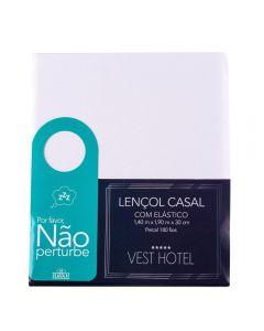 Lençol Casal Com Elástico Vest Hotel Havan - BRANCO