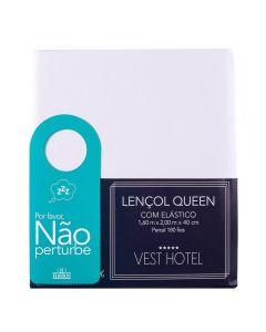 Lençol Queen Com Elástico Vest Hotel Havan - Branco