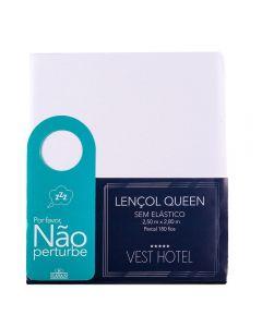 Lençol Queen Sem Elastico Vest Hotel Havan - BRANCO
