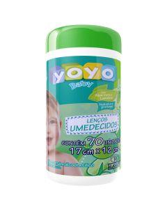 Lenços Umedecidos Aloe Vera e Lanolina 70 Unidades Yoyo Baby - VERDE