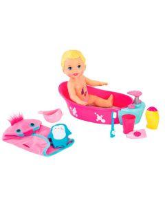 Boneca Little Mommy Brincadeira na Banheira Fisher-Price - ROSA