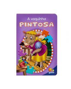 Livro Animais Da Fazenda A Vaquinha Pintosa - Quebra - Cabeça