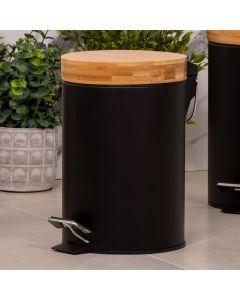 Lixeira Bamboo 3 Litros com Pedal Finecasa - Preto
