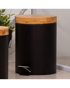 Lixeira Bamboo 5 Litros Finecasa - Preto