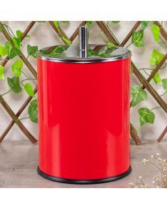 Lixeira Classic em Inox 3 Litros Solecasa - Vermelho