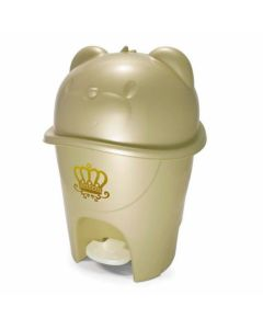 Lixeira com Pedal Fofura 6,5 litros Majestic - Dourado