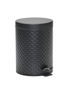 Lixeira Redonda Diamond Matte 5 Litros - Preto
