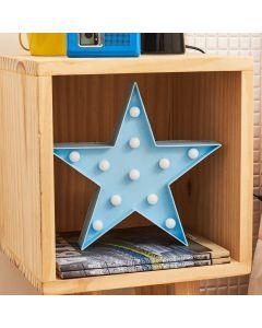 Luminária Decorativa 11 Leds Estrela - Azul