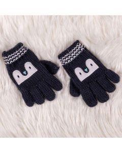 Luva de 1 à 3 Anos Pinguim Yoyo Kids - Azul