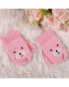Luva De 3 A 9 Meses Feminina Urso Yoyo Baby - Rosa