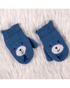 Luva de 3 à 9 Meses Urso Yoyo Baby - Azul