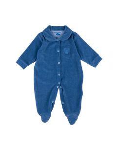 Macacão de Bebê de Plush Ursinho Yoyo Baby Azul