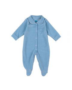 Macacão de Bebê Plush de Golinha Ursinho Yoyo Baby Azul Bebe