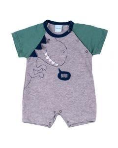 Macacão de Bebê Raglan Dino Yoyo Baby