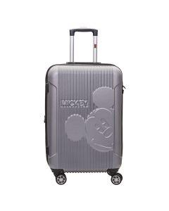 Mala de Viagem Grande Mickey 360° ABS Luxcel - Prata