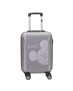 Mala de Viagem Pequena Mickey 360° ABS Luxcel - Prata
