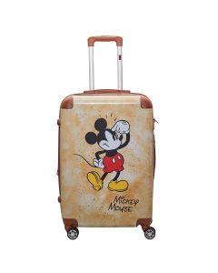 Mala de Viagem Tamanho M Mickey ABS Luxcel - Marrom
