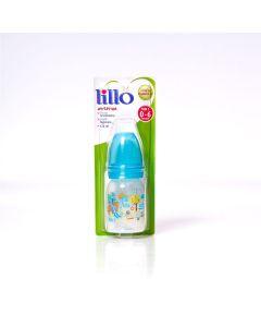 Mamadeira 120ml Divertida Orto Silicone Nº 1 0-6 Meses Lillo - AZUL