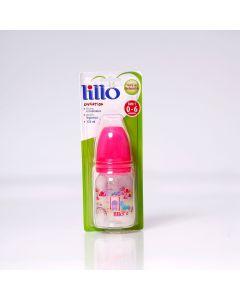 Mamadeira 120ml Divertida Orto Silicone Nº 1 0-6 Meses Lillo - ROSA