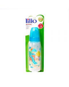 Mamadeira 240ml Divertida Orto Silicone Nº2 +6 Meses Lillo - Azul