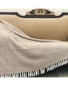 Manta Decorativa para Sofá 1,25x1,50m Miami - Bege Claro