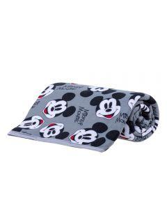 Manta Infantil Flanela Personagens Disney - Mickey Preto e Branco