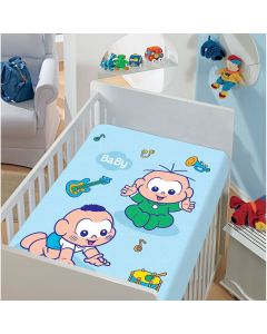 Manta Infantil Microfibra Turma da Mônica Jolitex - Azul
