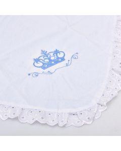 Manta para Bebê com Bordado Baby Joy - Azul