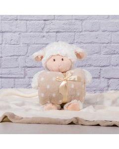 Manta para Bebê 75cm x 1,00m Com Urso de Pelúcia - Creme
